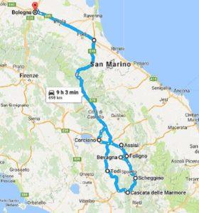 Mappa Umbria